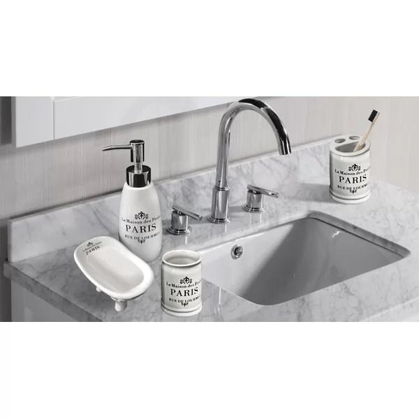 katniss paris ceramic 4 piece bathroom accessories set