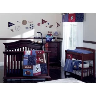 shaurya ball 9 piece crib bedding set