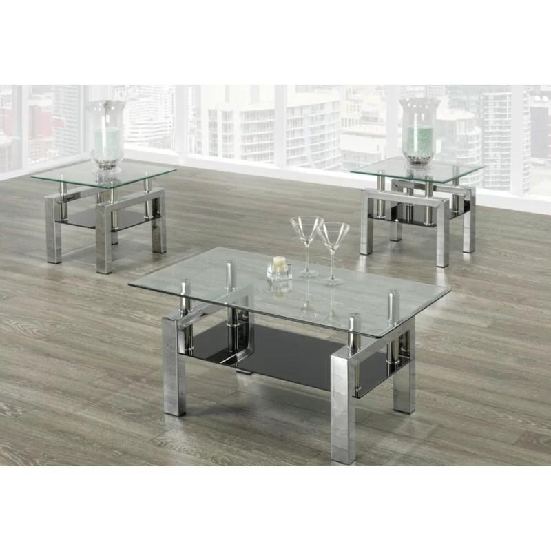 odelia 3 piece coffee table set