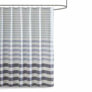 modern blue green shower curtains