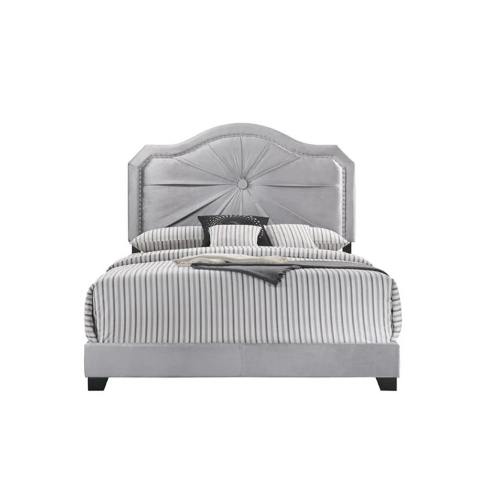 House Of Hampton Aco Queen Upholstered Low Profile Standard Bed Wayfair