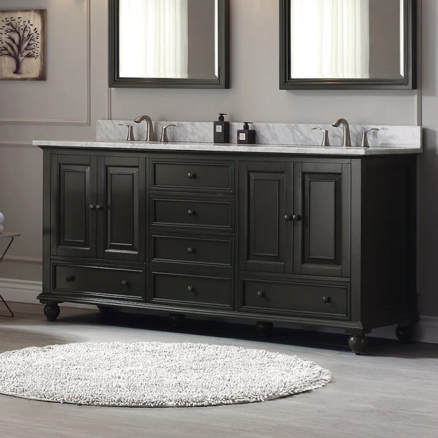 "avanity thompson 60"" bathroom vanity base & reviews 