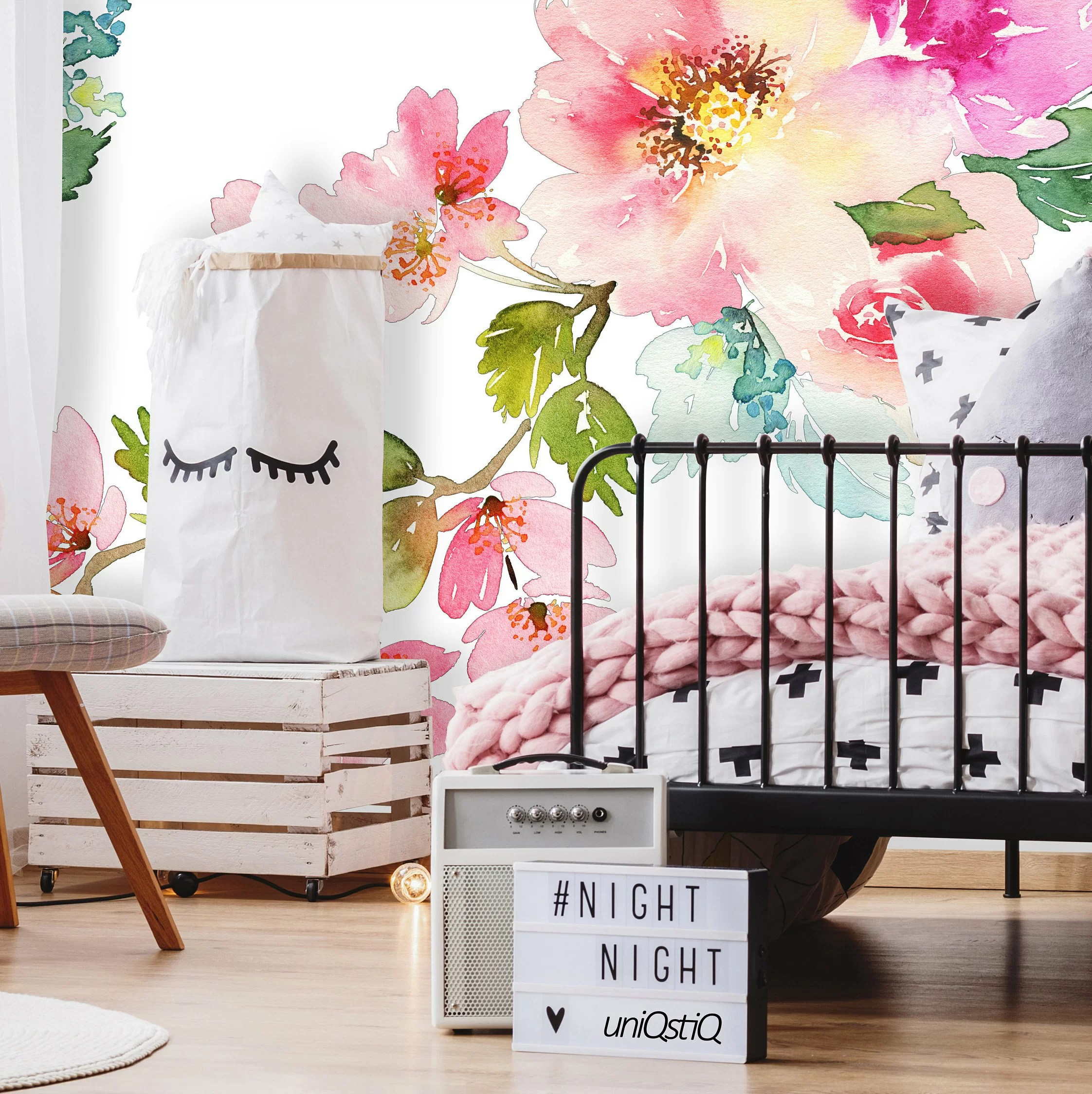 House Of Hampton Carney Removable Nursery Spring Floral 4 17 L X 50 W Peel And Stick Wallpaper Roll Wayfair