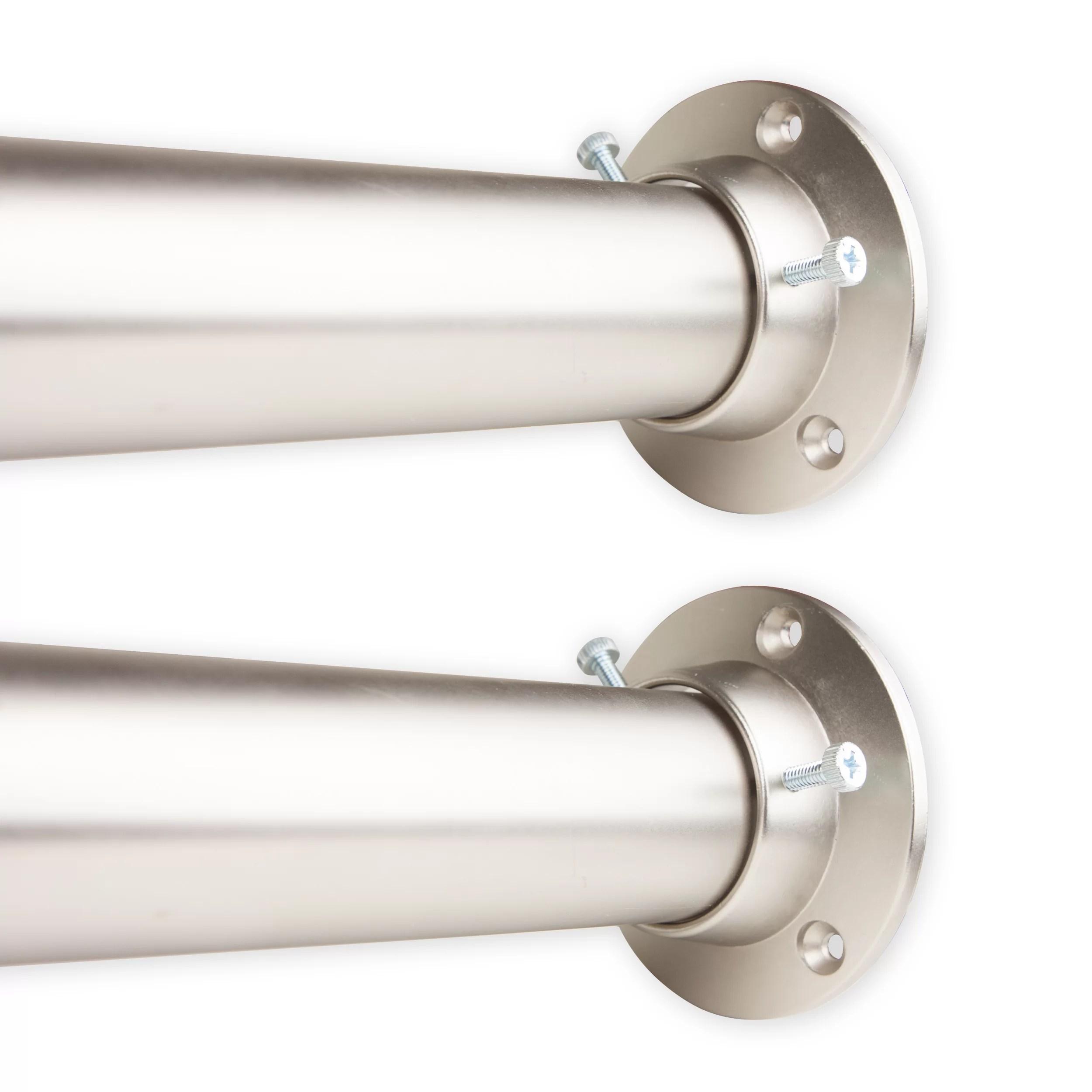 kurtz adjustable room divider and socket single curtain rod