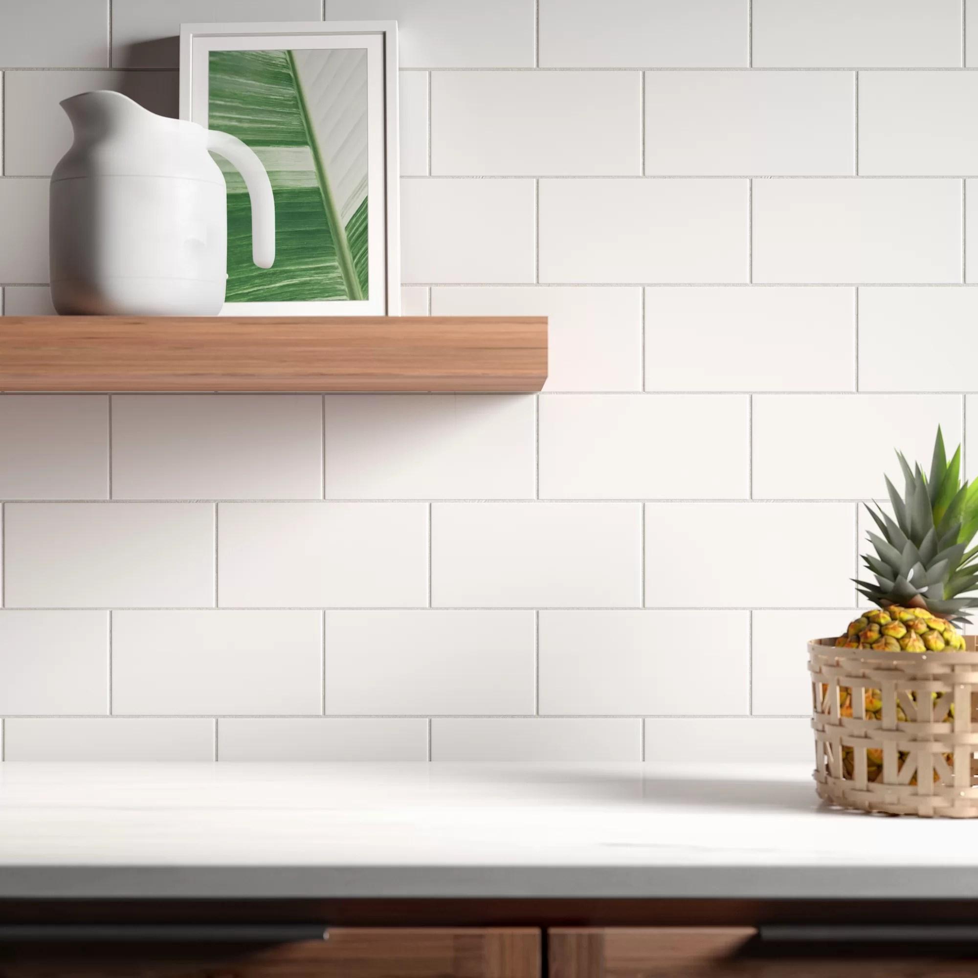 casden 4 x 8 ceramic subway tile