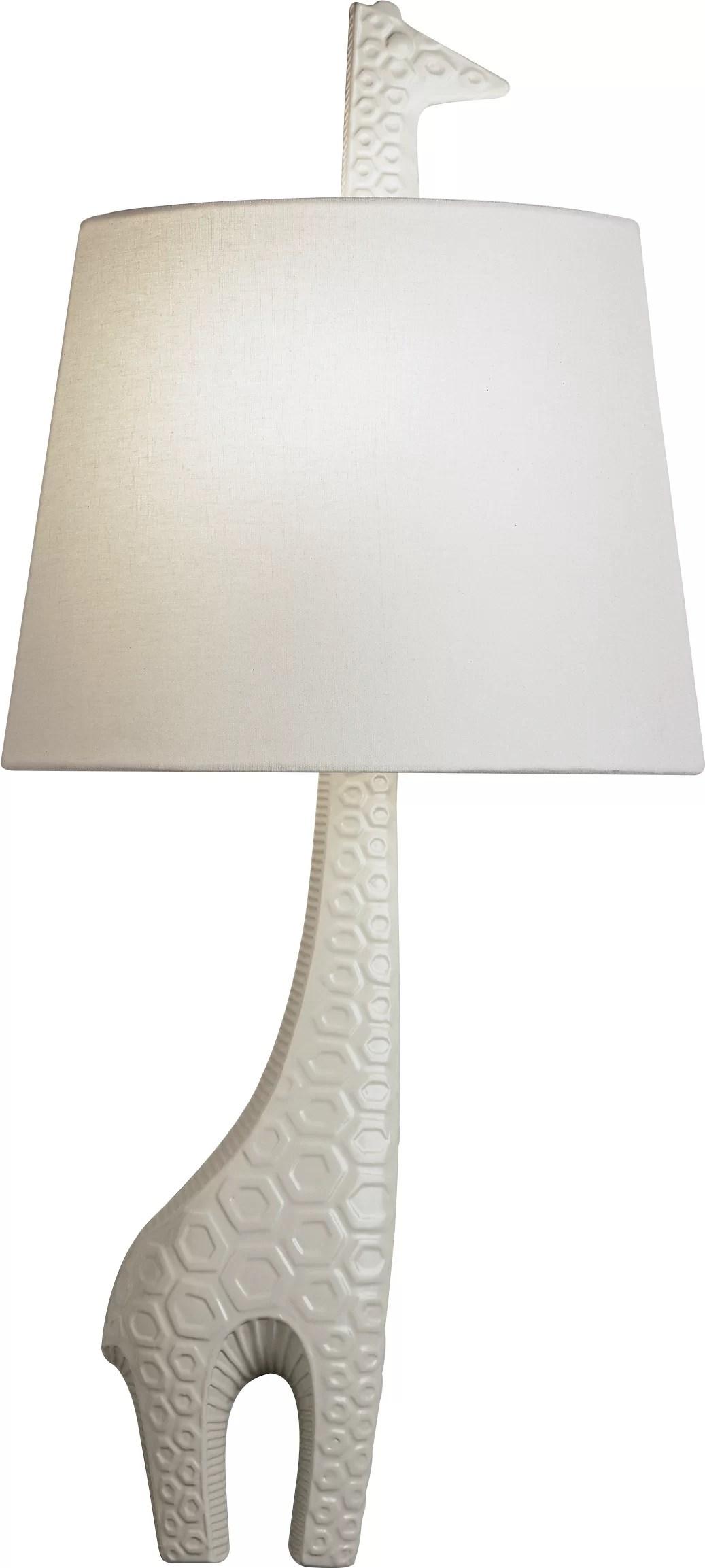right facing giraffe 1 light wall sconce