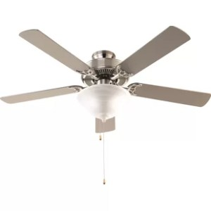 Flush Mount Ceiling Fans You ll Love   Wayfair 52  Hamlett 3 Light 5 Blade Ceiling Fan