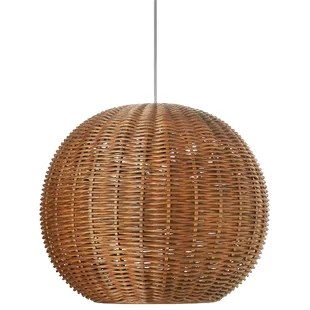 Wicker Rattan Pendant Light   Wayfair Save