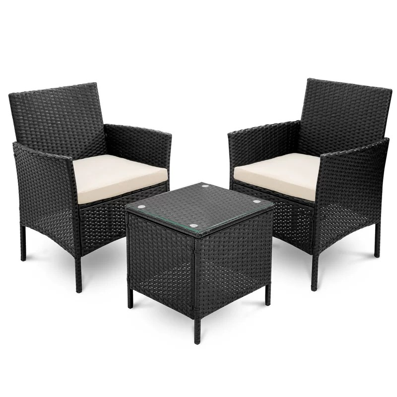 ava may 2 seater bistro set with cushions