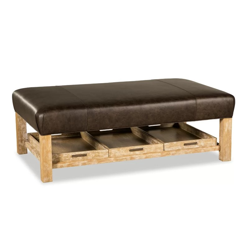 winslow leather storage ottoman