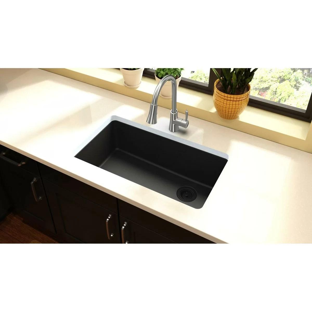 quartz classic 33 l x 19 w undermount kitchen sink