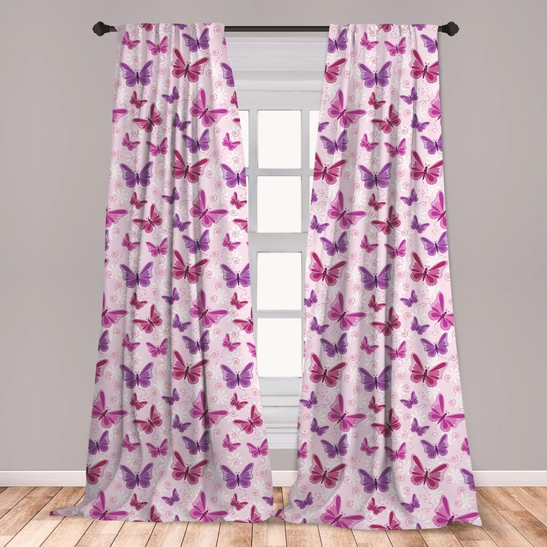 butterfly room darkening rod pocket curtain panels