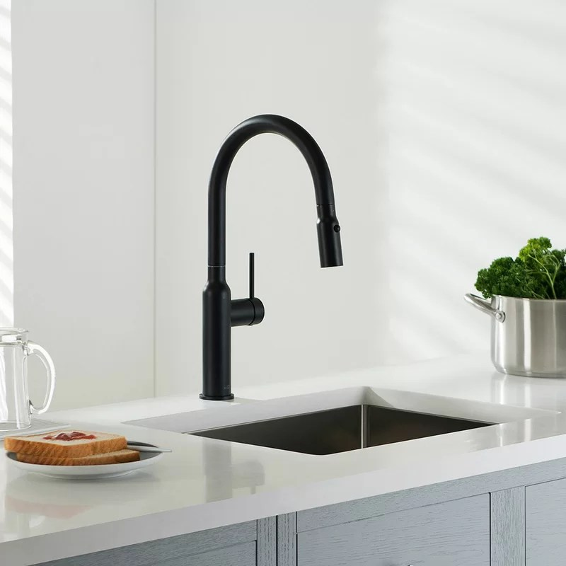 hilo pull down touch single handle kitchen faucet