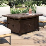 Ebern Designs Spicewood Aluminum Propane Fire Pit Table Reviews