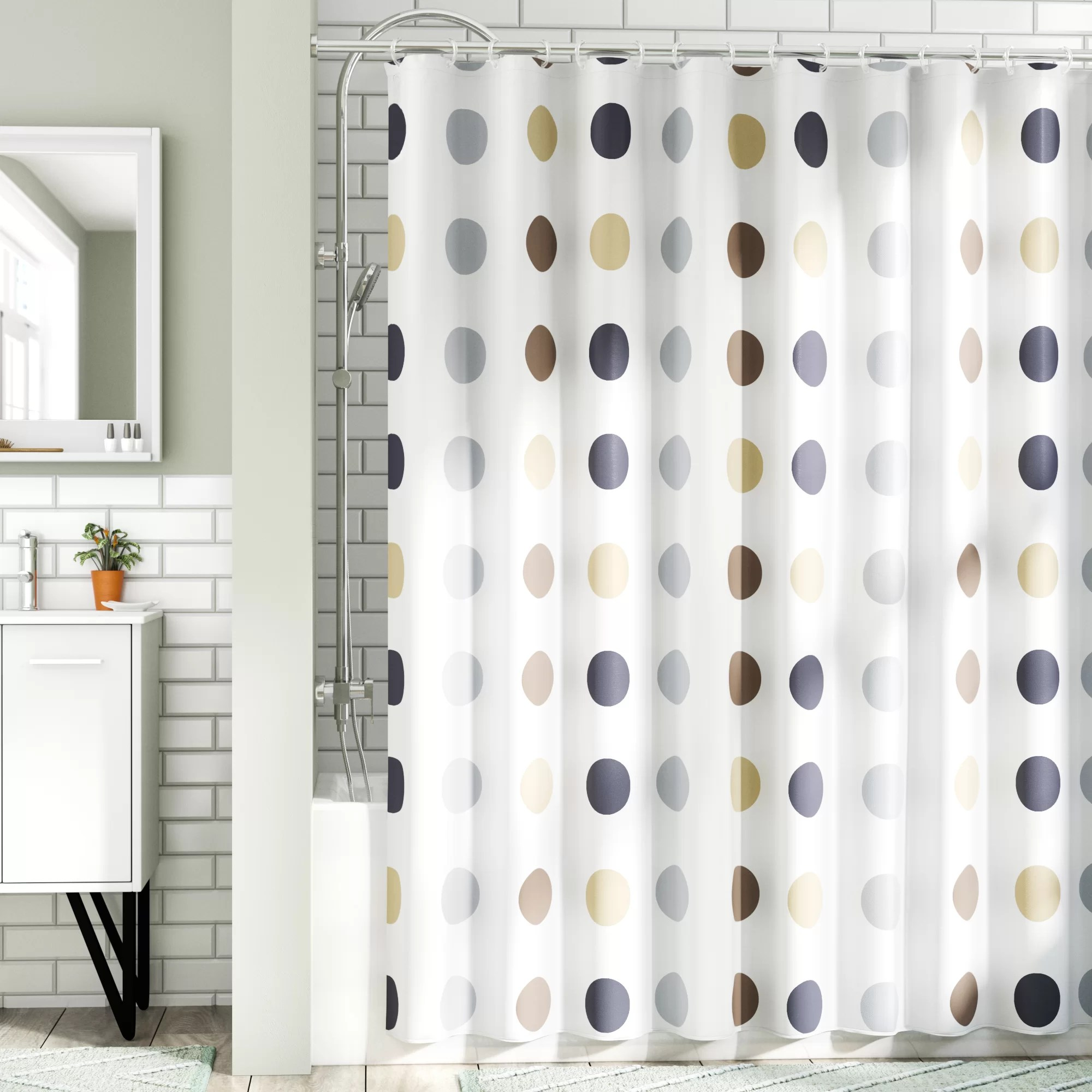montano extra long twister fabric single shower curtain