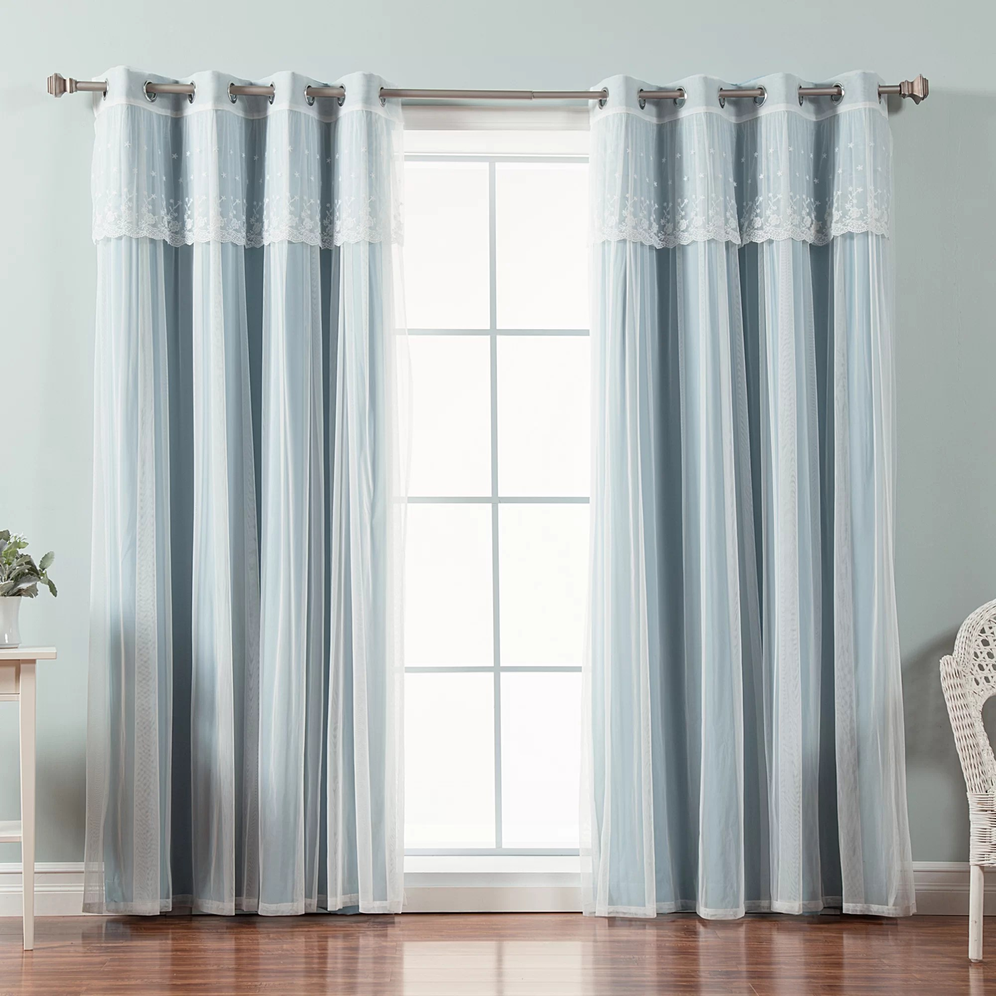 granados tulle solid blackout thermal grommet curtain panels
