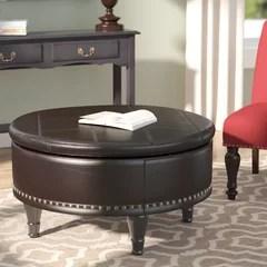 real leather storage ottoman wayfair