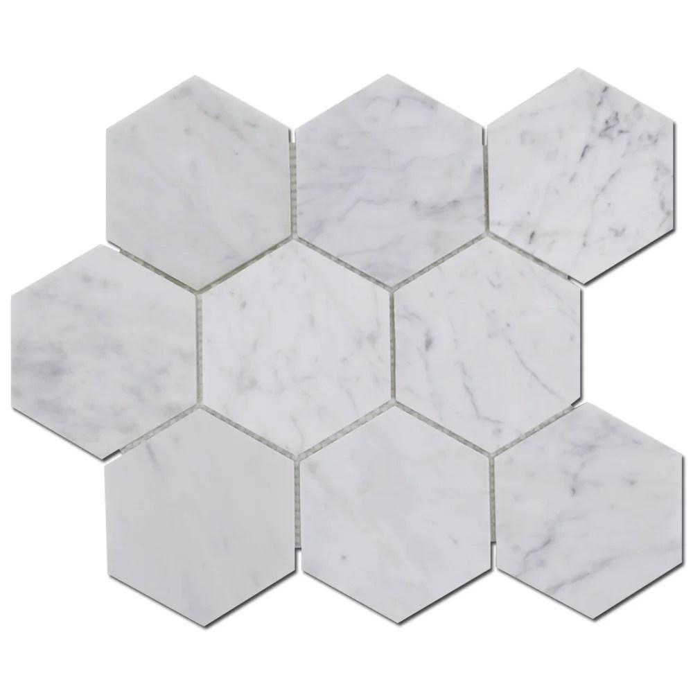 honeycomb 8 x 8 marble stone look wall floor tile