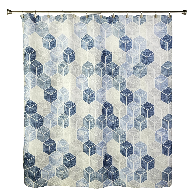 woolsey geometric shower curtain