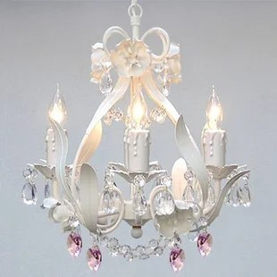 Tobias 4 Light Crystal Hearts Chandelier