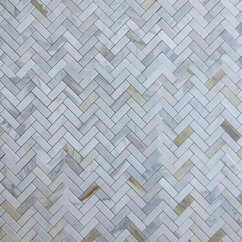 1 x 3 marble chevron mosaic wall floor tile