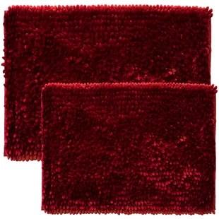 renita butter rectangular polyester non slip solid 2 piece bath rug set