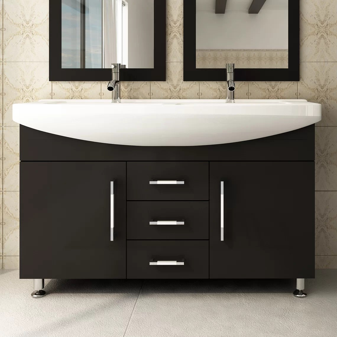 Jwh Living Celine 48 Double Bathroom Vanity Reviews