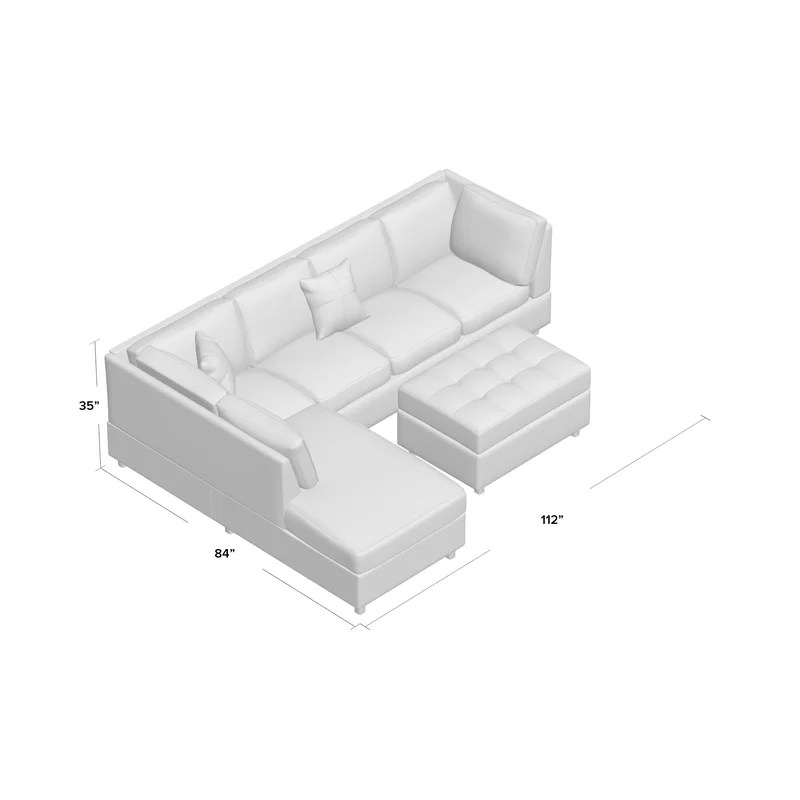 Grey Leather Sectional Reclining Sofa