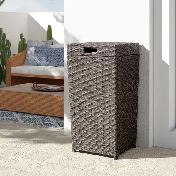 outdoor trash can with lid decorative