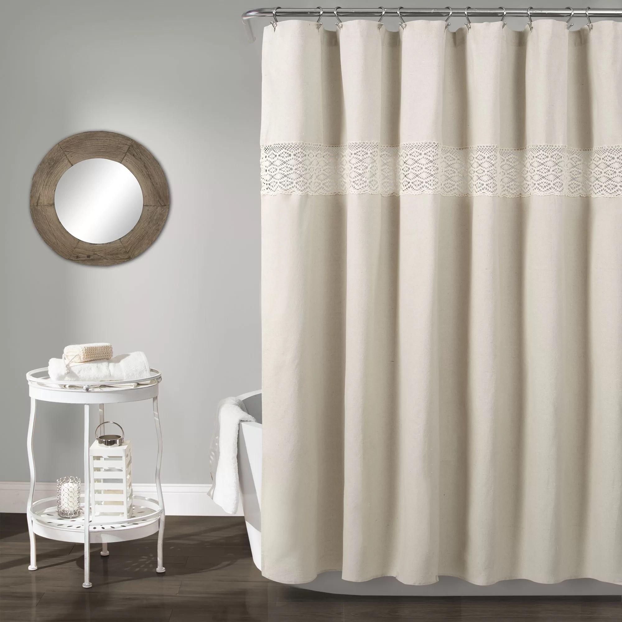 snider linen shower curtain