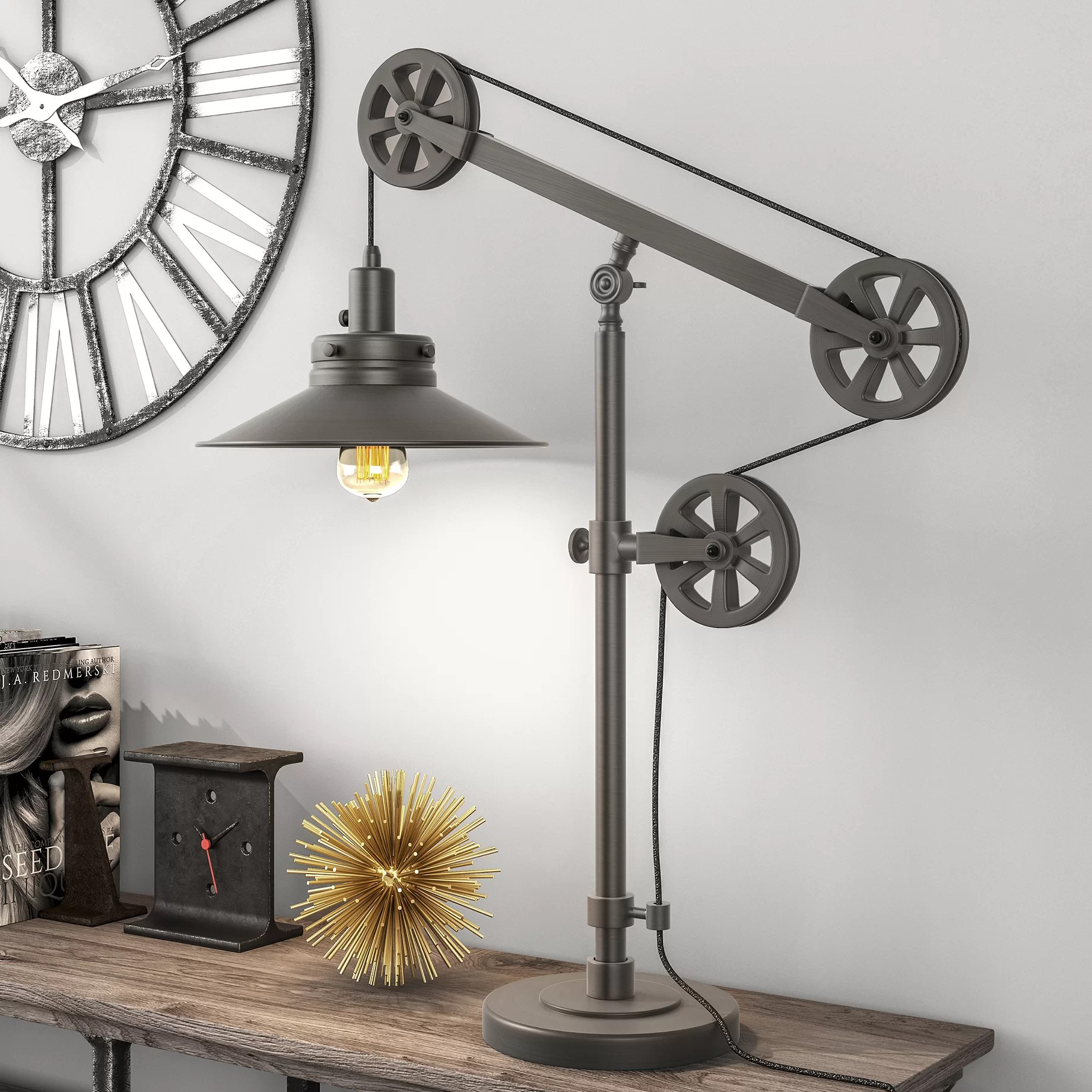 Brass Swing Arm Table Lamps You Ll Love In 2020 Wayfair