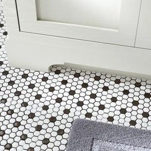 retro 1 x 1 porcelain mosaic tile