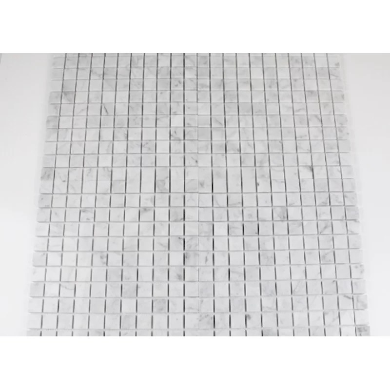 bianco carrara honed square 1 x 1 marble mosaic tile