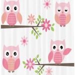 East Urban Home Owl Shower Curtain Set Hooks Wayfair