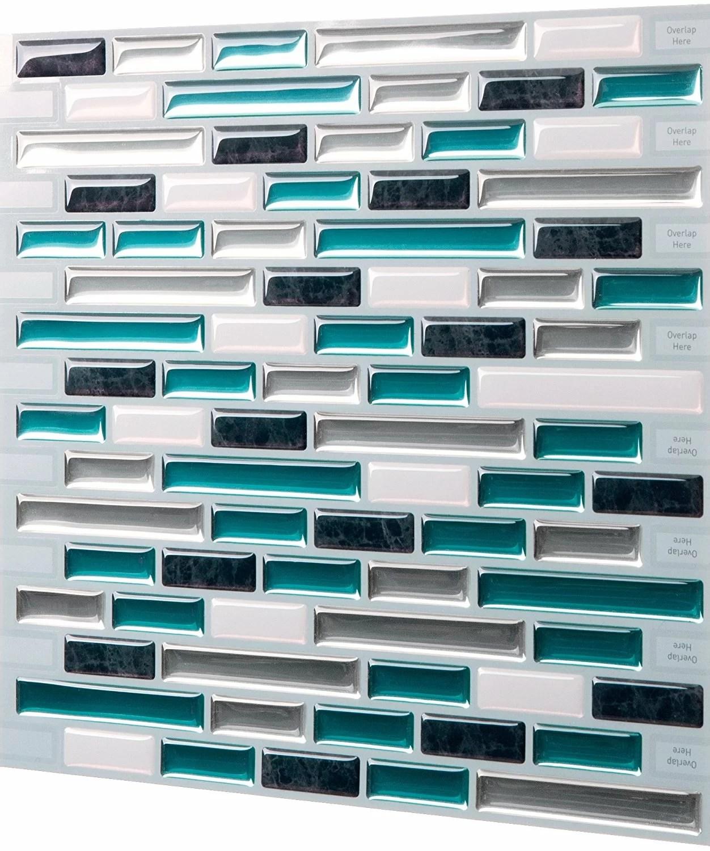 9 25 x 9 81 pvc peel stick mosaic tile