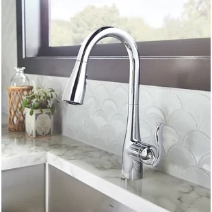 arbor pull down single handle kitchen faucet with duralock and reflex