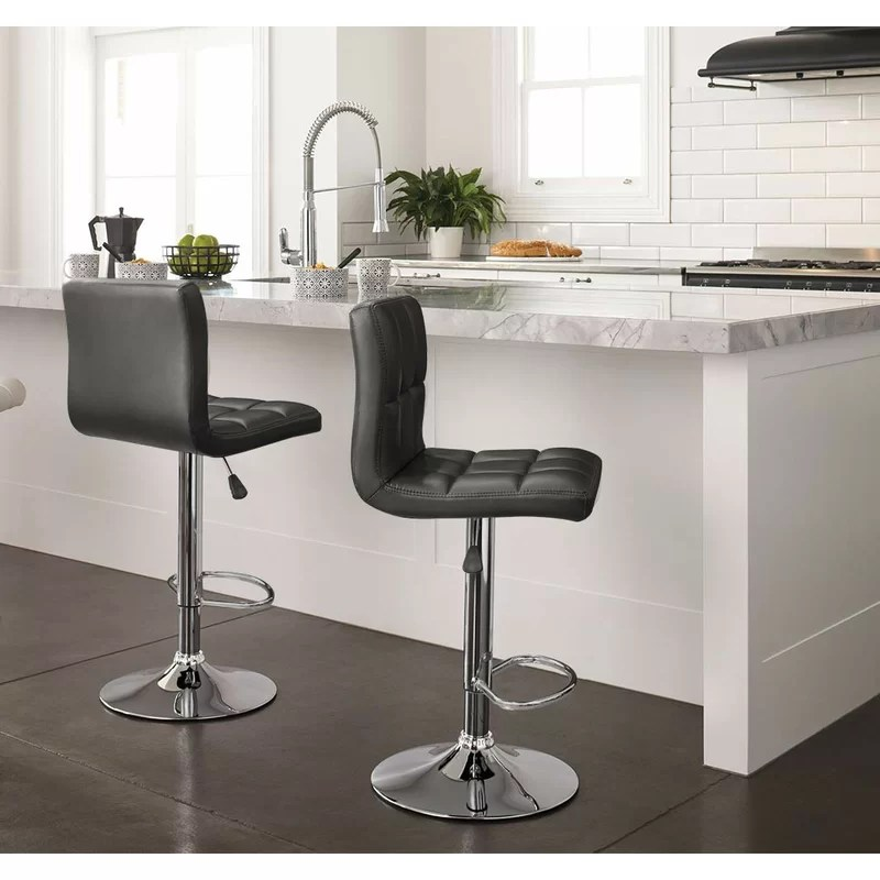 Leather Bar Stools Swivel With Back