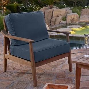 outdoor sunbrella seat back cushion