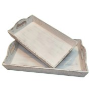Hargrave 2 Piece Serving Tray Set