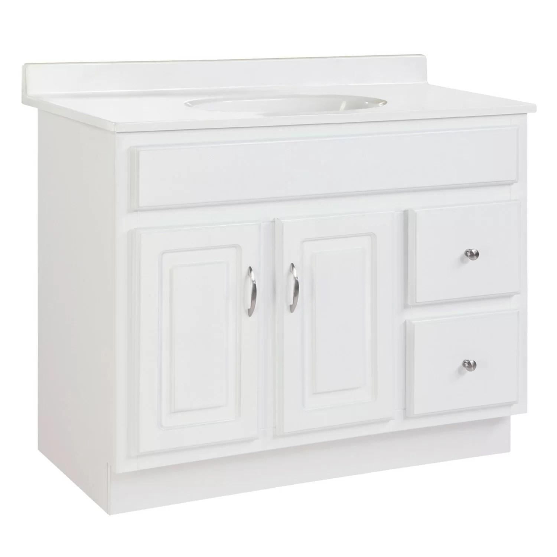 searle 36 single bathroom vanity base only in white
