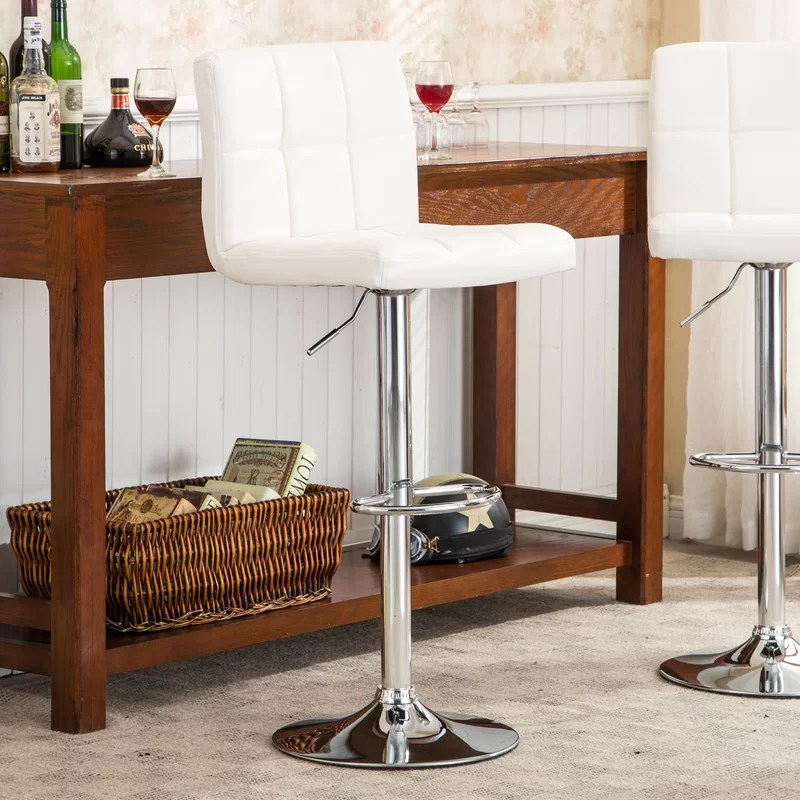 Winford Swivel Adjustable Height Bar Stool (Set of 2)