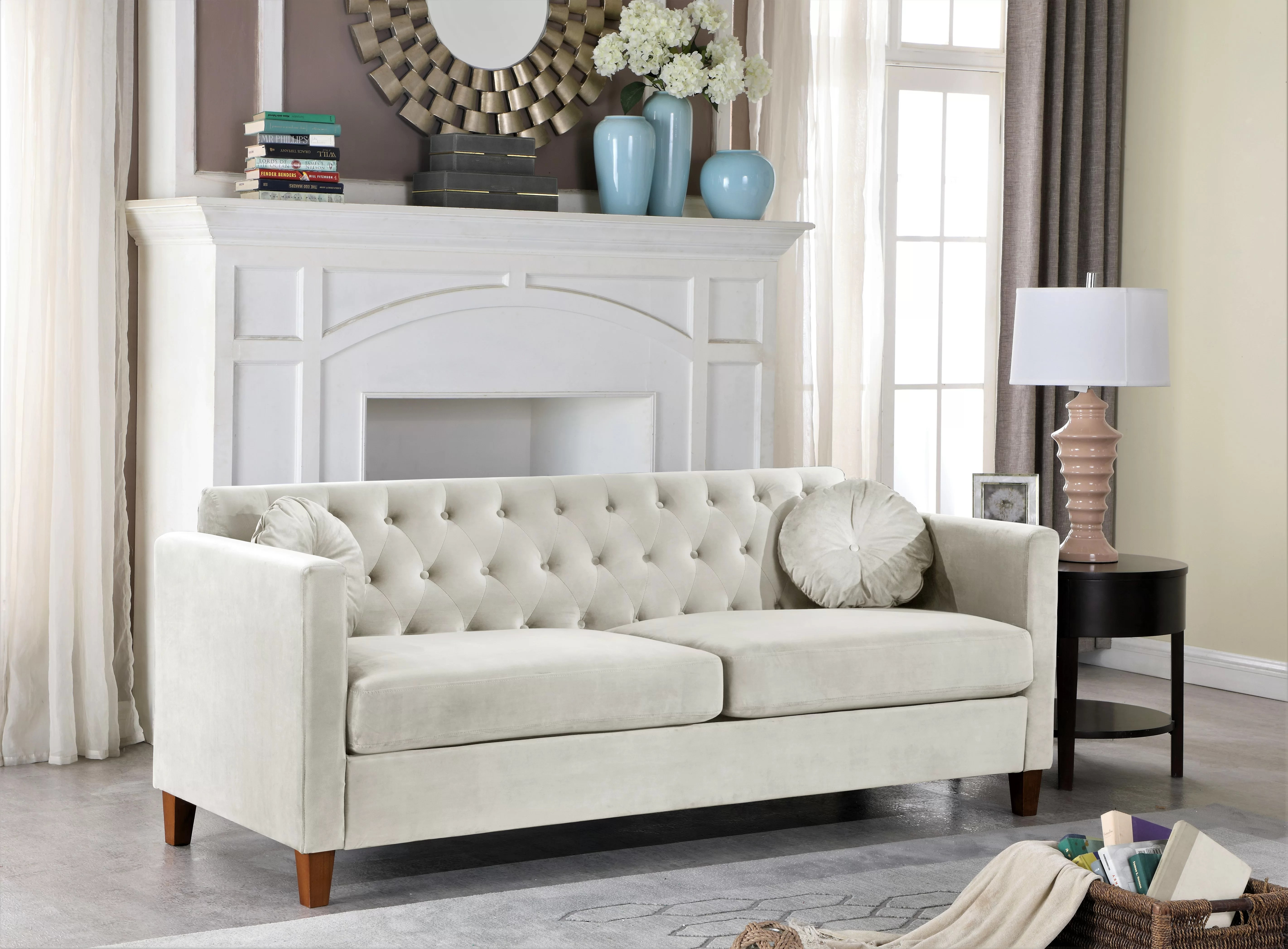 Beige Tufted Sofas You Ll Love In 2020 Wayfair