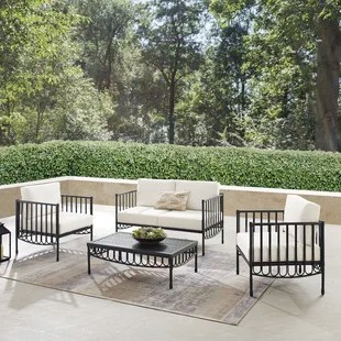 crestover deep seating group with cushions