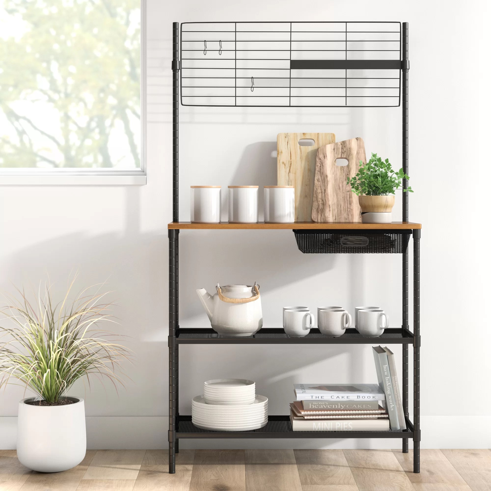 daphne 35 8 steel standard baker s rack with microwave compatibility