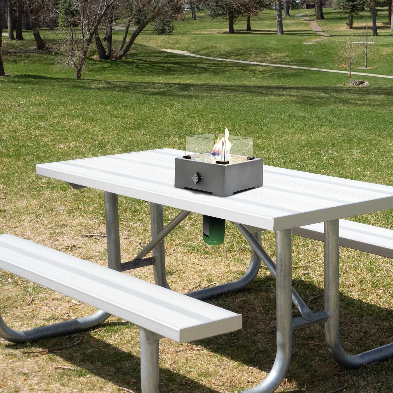 stewood 7 7 h concrete propane outdoor fire pit table insert