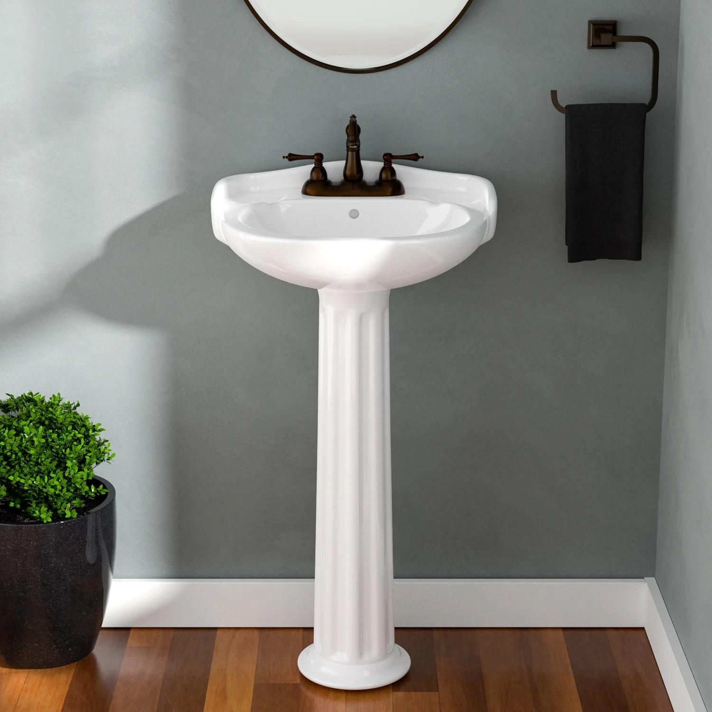 barclay arianne 18 pedestal lavatory 1 hole white wayfair