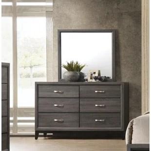 beare 6 drawer dresser with mirror