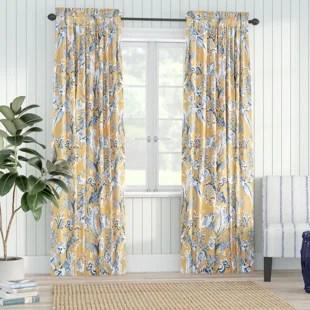panagia floral room darkening thermal rod pocket curtain panels set of 2
