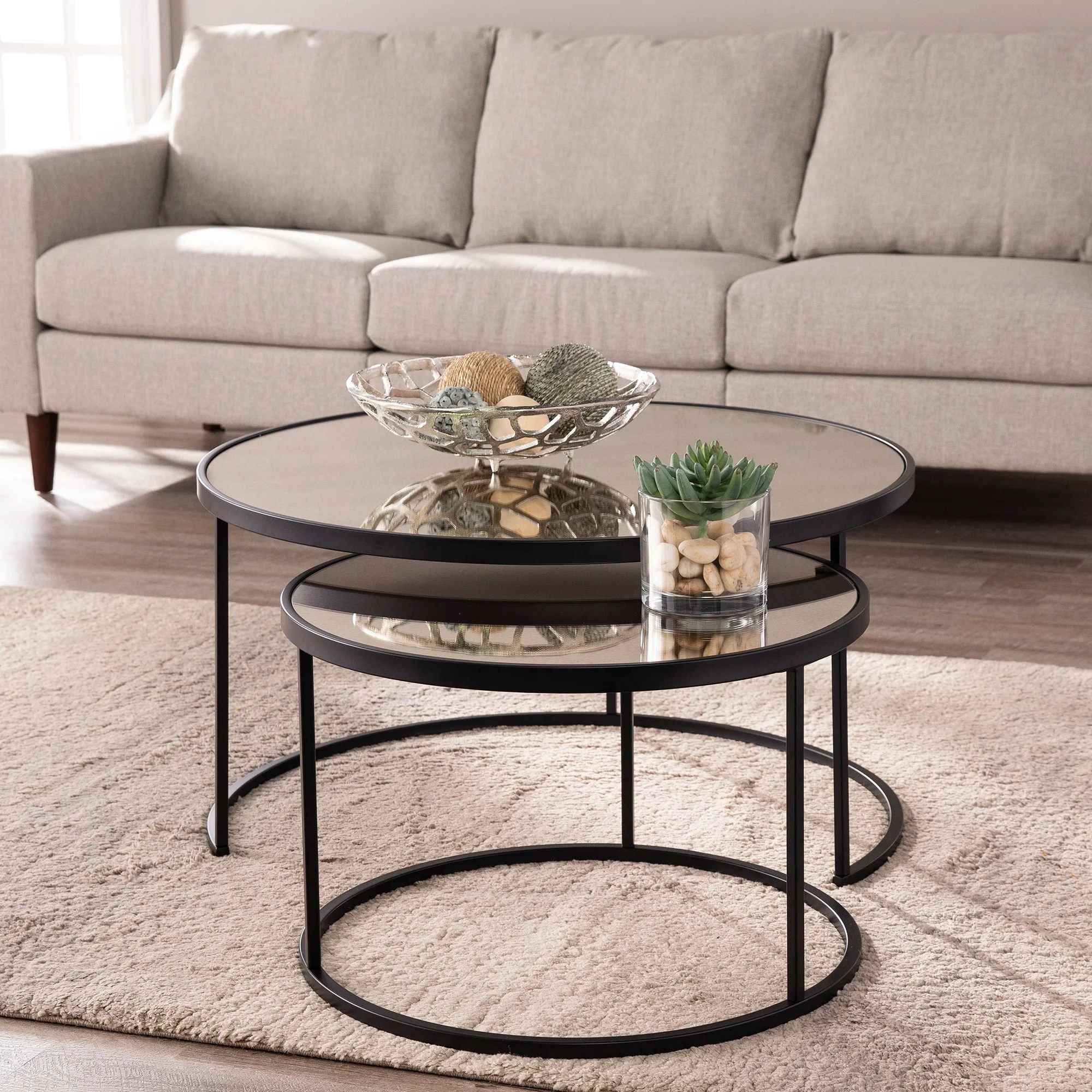 brass mirrored coffee tables you ll