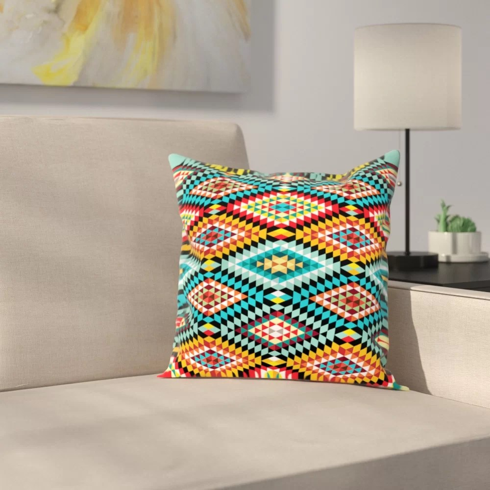tribal african fabric pattern outdoor throw pillow